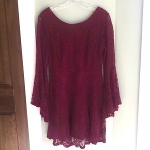 Alter'd State Burgundy Lace Dress